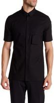 Helmut Lang Parachute Cotton Short Sleeve Pocket Shirt