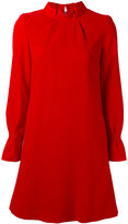 Goat pleat collar tunic dress - women - Polyester/Acetate/Wool - 10