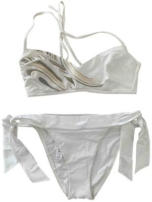 La Perla White Lycra Swimwear for Women