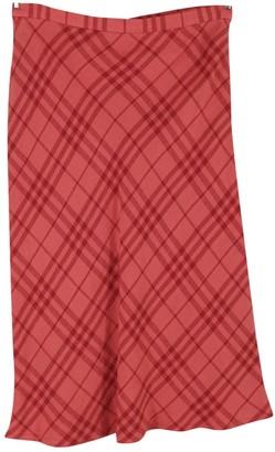 Burberry Red Linen Skirt for Women