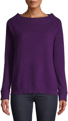 Lord & Taylor Cashmere Off-the-Shoulder Sweater