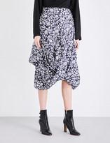 Anglomania Floral-print cotton skirt