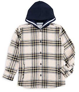 Sovereign Code Boys' Dayton Hooded Plaid Shirt - Little Kid, Big Kid