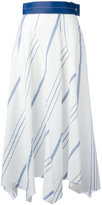 Loewe striped handkerchief skirt - women - Cotton/Linen/Flax/Lamb Skin - 36