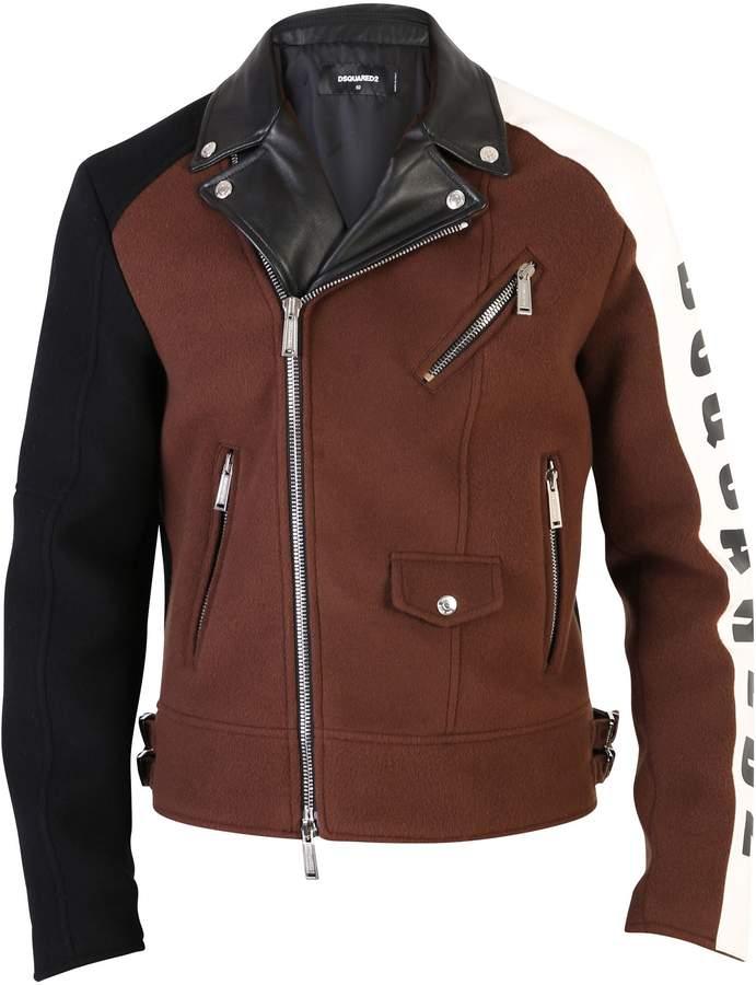 DSQUARED2 Brown Biker Jacket