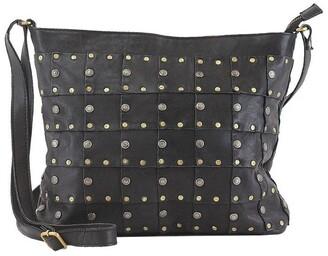 Prairie PRM206 Rivet Zip Top Crossbody Bag
