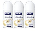 Nivea Whitening 48 Hours Deodorant Roll on 50 Ml. 3 Pack l