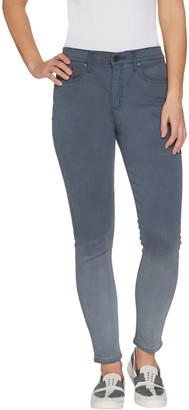 Halston H By H by Premier Denim Petite Ankle Length Ombre Jeans