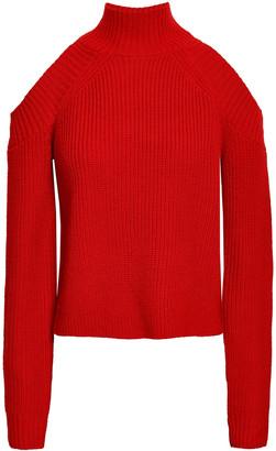 Nicholas Cold-shoulder Ribbed Wool-blend Sweater