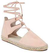 Kenneth Cole New York Beverly Suede Lace-Up Woven Jute Espadrilles