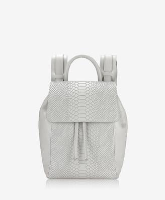 GiGi New York Phoebe Backpack, Oyster Embossed Python