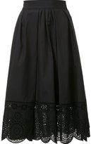 Marc Jacobs broderie anglaise hem skirt - women - Cotton/Spandex/Elastane - 6