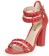 Dorothy Perkins Red studded open sandals