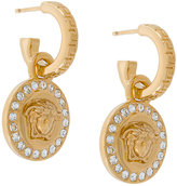 Versace crystal-embellished Medusa earrings