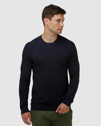 Brooksfield 'V' Panel Crew Neck Sweater