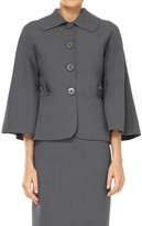 Max Studio Bell Sleeved Fitted Jacket
