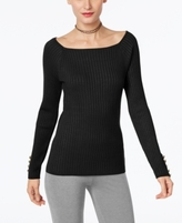 INC International Concepts Petite Ribbed Sweater, Created for Macy's