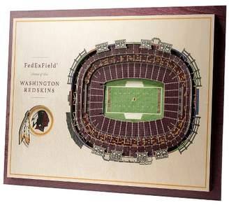 Redskins NFL Washington 5-Layer StadiumViews 3D Wall Art