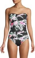Tommy Bahama Botanical-Print One-Piece Swimsuit