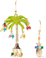 Rosantica Honululu Gold-tone Quartz Earrings - Green