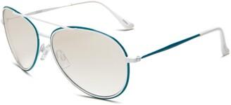 Southpole Womens 334SP WHTL Aviator Sunglasses