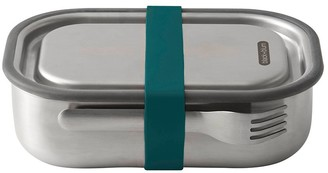 Black & Blum Stainless Steel Lunch Box with Fork 1L Ocean Blue