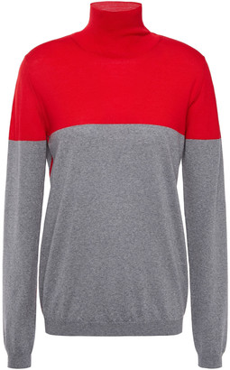 Marni Two-tone Wool Turtleneck Sweater