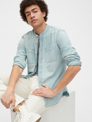 Gap 1969 Premium Distressed Denim Worker Shirt