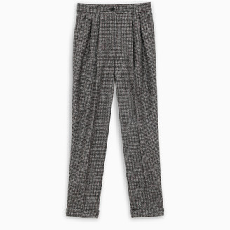 Dolce & Gabbana Checked pleated trousers