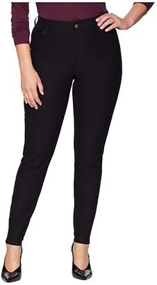 Hue Plus Size Essential Denim Leggings (Black) Women's Jeans