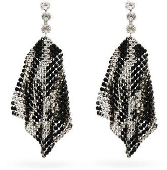 Isabel Marant Leopard-patterned Crystal-mesh Drop Earrings - Crystal