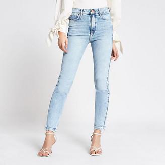 River Island Light blue Brooke high rise slim jeans
