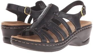 Clarks Lexi Marigold Q (Black Leather) Women's Sandals