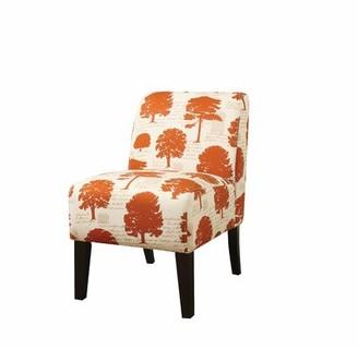 "Red Barrel Studio Bartly 23"" W Revolution Performance Fabrics Slipper Chair Fabric: Purple Geometric"