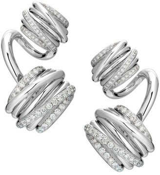 de Grisogono Allegra Toi & Moi 18K White Gold & Diamond Earrings