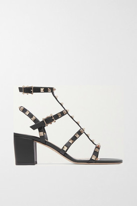 Valentino Garavani Rockstud 60 Leather Sandals - Black