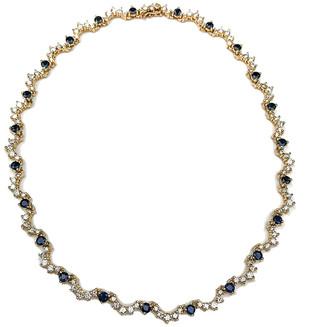 Arthur Marder Fine Jewelry 14K 10.50 Ct. Tw. Diamond & Sapphire Necklace