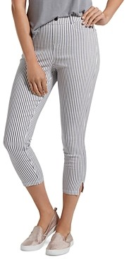 Hue Striped Denim Capri Leggings