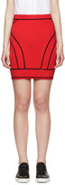 DSQUARED2 Red Knit Curved Panel Skirt