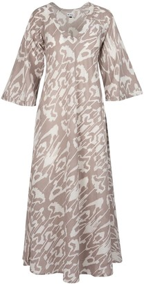 At Last... Anna Cotton Dress- Elephant Ikat