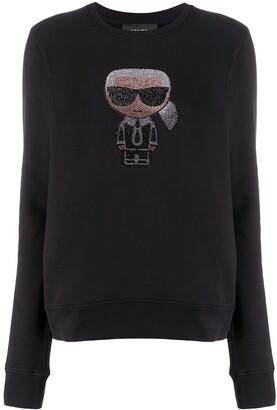 Karl Lagerfeld Paris K/Ikonik sparkle sweatshirt