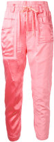 Haider Ackermann patch pocket track trousers