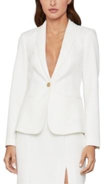 BCBGMAXAZRIA Shawl-Collar Crepe Jacket