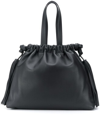 ATTICO Tassel-Detail Top Handle Tote