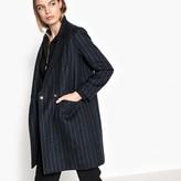 Suncoo Striped Wool Blend Coat