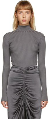 Dion Lee Grey Open Back Turtleneck