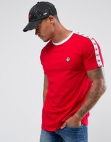 Hype T-Shirt In Red With Taping