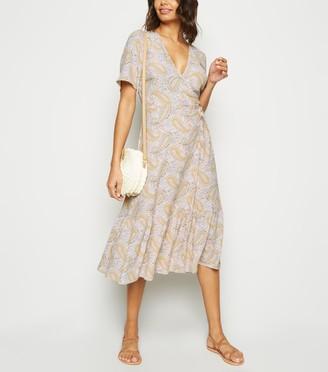 New Look Paisley Tiered Wrap Dress