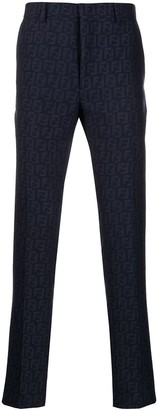 Fendi logo pattern tailored trousers