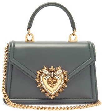 Dolce & Gabbana Devotion Leather Cross-body Bag - Dark Green